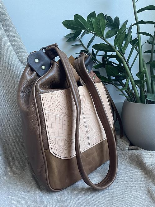 OOAK Shoulder Bag   handcarved leather