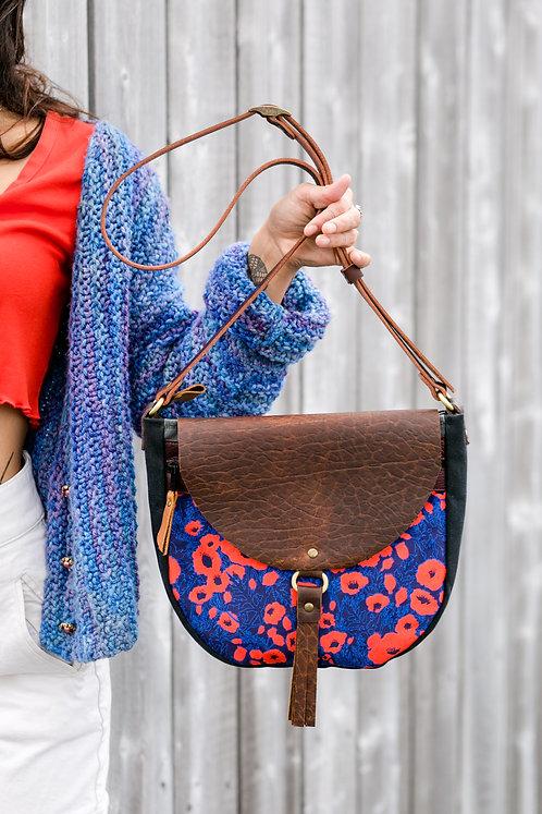 Molly Bag | Poppies (velvet)