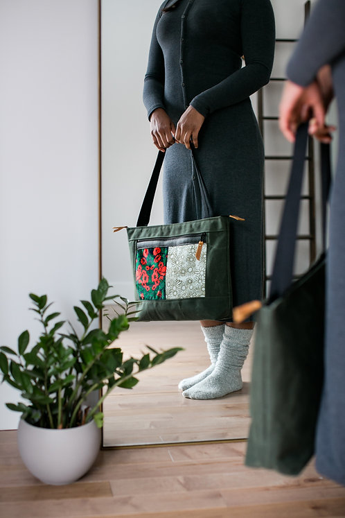 Flagship Tote | Double Hygge (poppies)