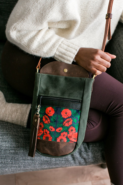 Bottle Bag | Red Poppies