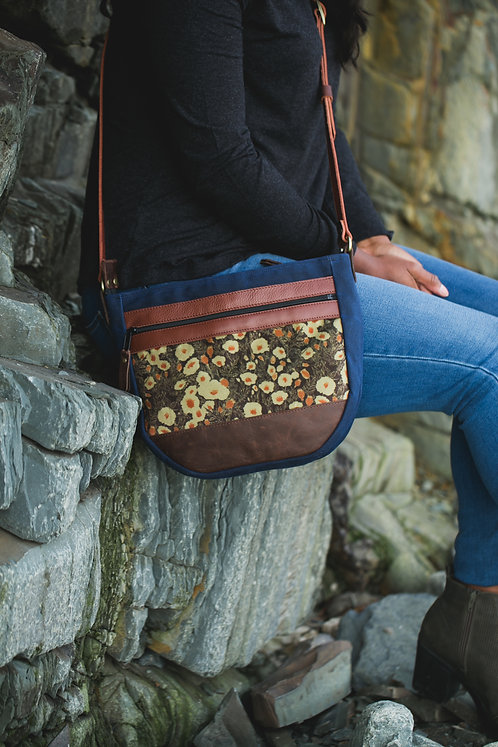 Day Bag Rugged | Poppies Neutral (velvet)
