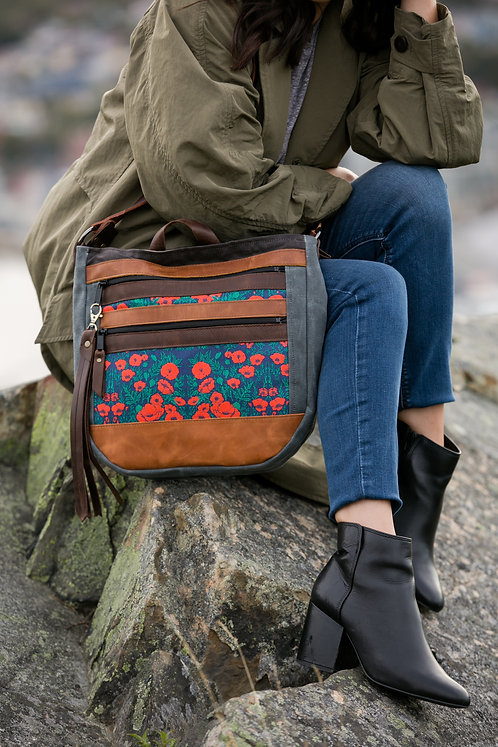 The Nomad Crossbody | Red Poppies