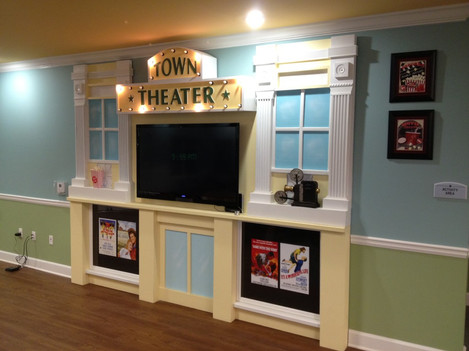 Town Theater movie station for Memory Care