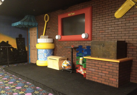 Life-sized toy stage props