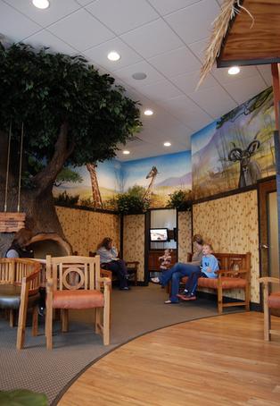 safari themed lobby