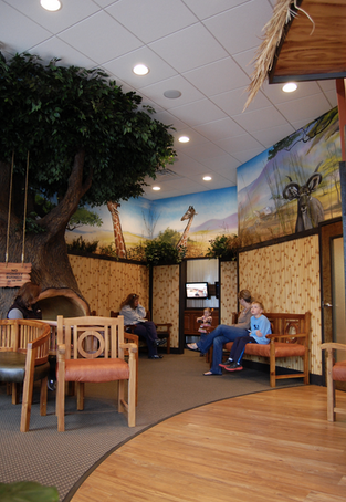 safari themed lobby
