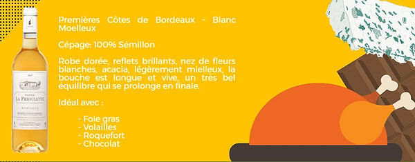 Premières Côtes de Bordeaux- Blanc moelleux