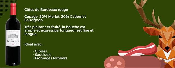 Côtes de Bordeaux rouge