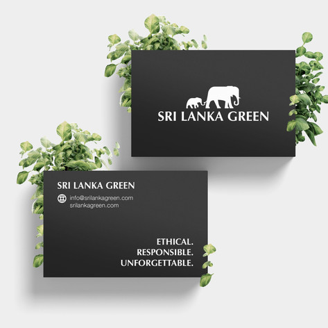 Sri Lanka Green Business Card Design
