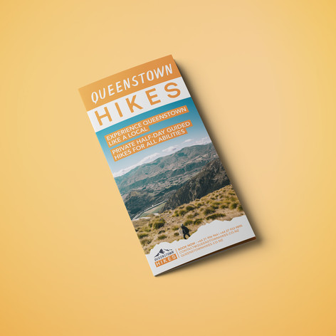 Queenstown Hikes Brochure Design