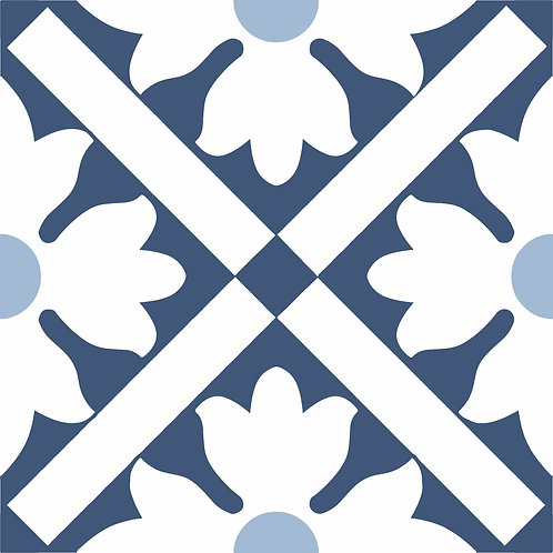Керамическая плитка Colibri Blu Dec.B6 12,5 × 12,5 см