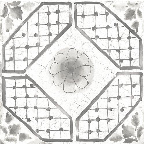 Керамогранит Maiolica Grey pattern #3 60 × 60 см