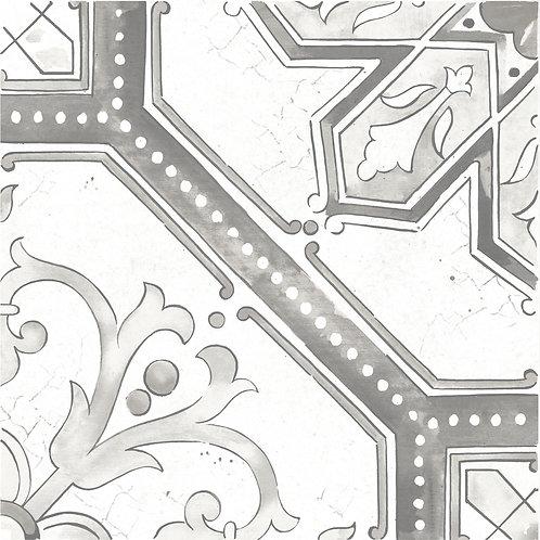 Керамогранит Maiolica Grey pattern #2 60 × 60 см