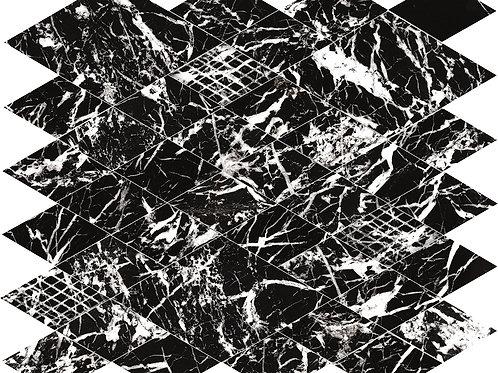 Мозаика Majestic Net Gl. Black Lev 31 × 35 см