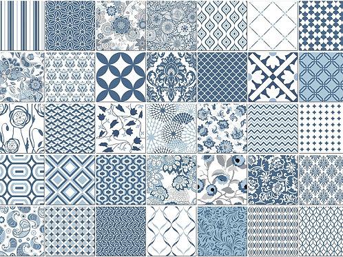Керамическая плитка Colibri Comp. Blu 12,5 × 12,5 см