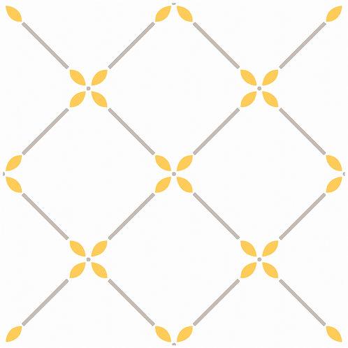 Керамическая плитка Colibri Gia/Gr. Dec.A6 12,5 × 12,5 см