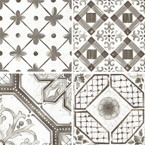 Керамогранит Maiolica Black mix (4 patterns) 60 × 60 см