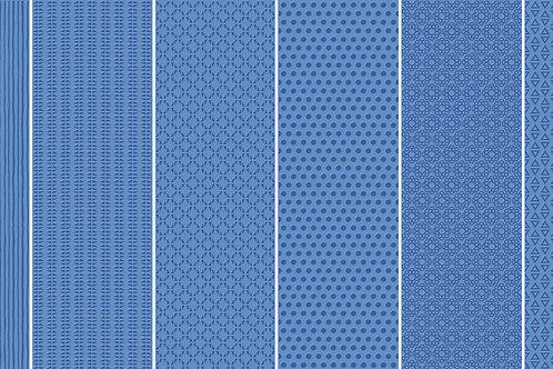 Керамогранит Vibration Blue (6 patterns) 10 х 30 см