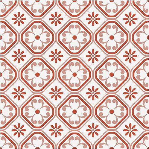 Керамогранит City Glamour Red On White Base #01 60 х 60 см