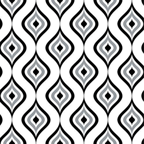 Керамическая плитка Colibri Nero Dec.A5 12,5 × 12,5 см