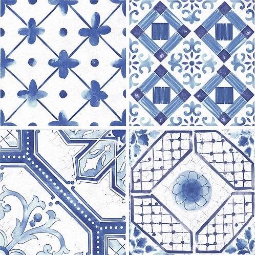 Керамогранит Maiolica Blue mix (4 patterns) 60 × 60 см