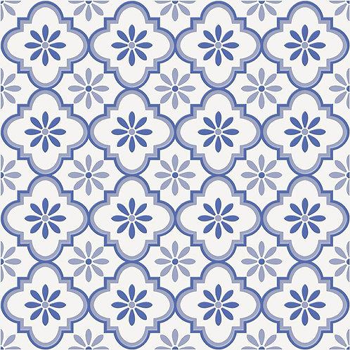 Керамогранит City Glamour Blue On White Base #03 60 х 60 см