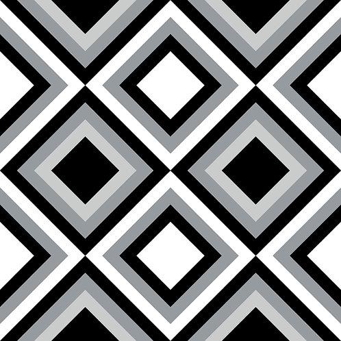Керамическая плитка Colibri Nero Dec.D2 12,5 × 12,5 см