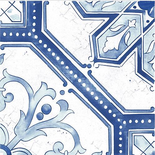 Керамогранит Maiolica Blue pattern #2 60 × 60 см
