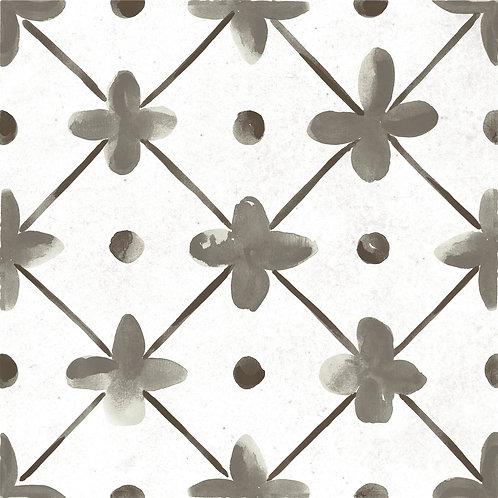 Керамогранит Maiolica Black pattern #1 60 × 60 см