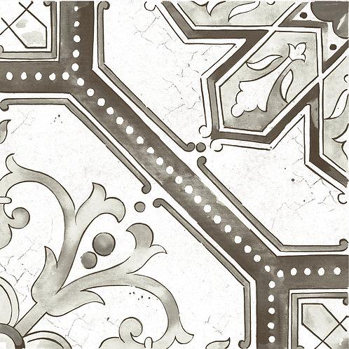 Керамогранит Maiolica Black pattern #2 60 × 60 см