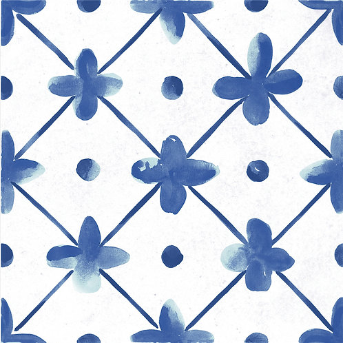 Керамогранит Maiolica Blue pattern #1 60 × 60 см