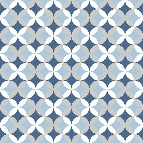 Керамическая плитка Colibri Blu Dec.E2 12,5 × 12,5 см