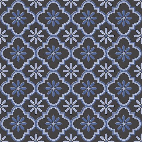 Керамогранит City Glamour Blue On Black Base #03 60 х 60 см