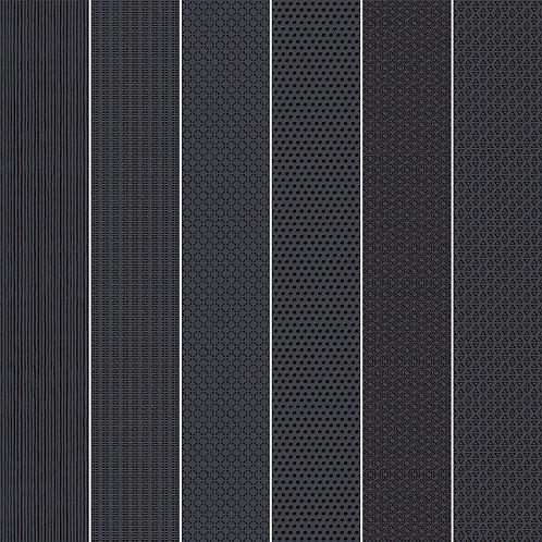 Керамогранит Vibration Black (6 patterns) 10 х 60 см