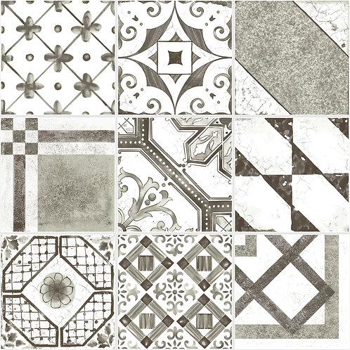 Керамогранит Maiolica Black mix (9 patterns) 20 × 20 см