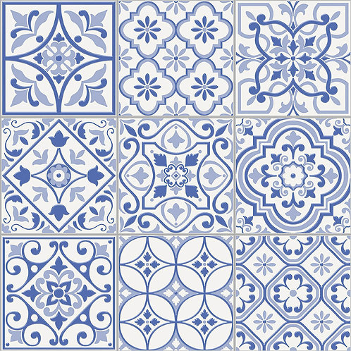 Керамогранит City Glamour Blue On White Base 20 х 20 см