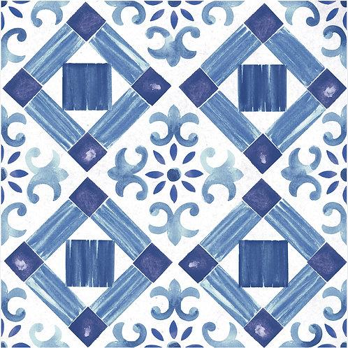 Керамогранит Maiolica Blue pattern #4 60 × 60 см