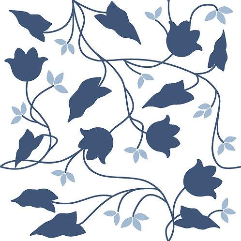 Керамическая плитка Colibri Blu Dec.C3 12,5 × 12,5 см