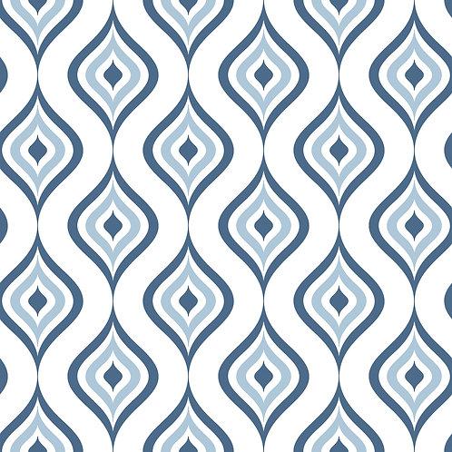 Керамическая плитка Colibri Blu Dec.A5 12,5 × 12,5 см