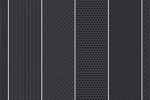 Керамогранит Vibration Black (6 patterns) 10 х 30 см