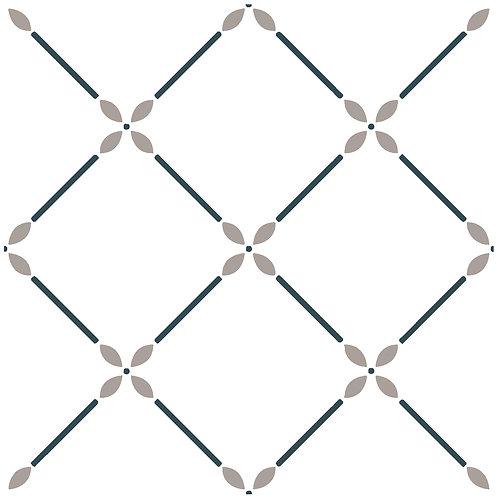 Керамическая плитка Colibri Nero Dec.A6 12,5 × 12,5 см