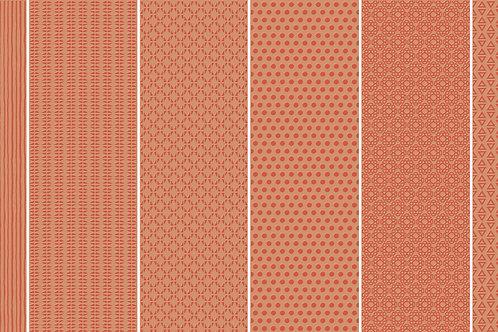 Керамогранит Vibration Orange (6 patterns) 10 х 30 см