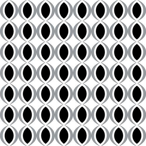 Керамическая плитка Colibri Nero Dec.E6 12,5 × 12,5 см