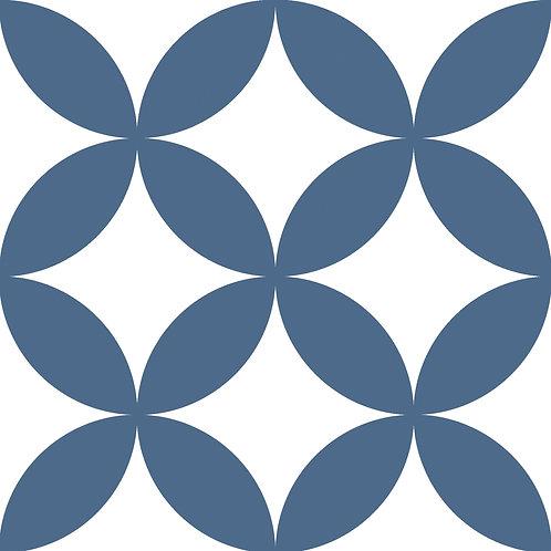 Керамическая плитка Colibri Blu Dec.B3 12,5 × 12,5 см