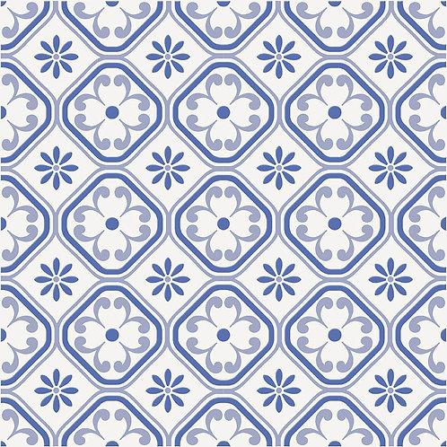 Керамогранит City Glamour Blue On White Base #01 60 х 60 см