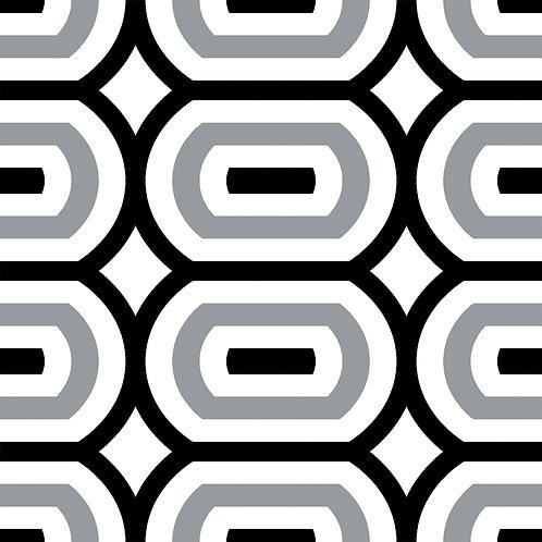 Керамическая плитка Colibri Nero Dec.D1 12,5 × 12,5 см
