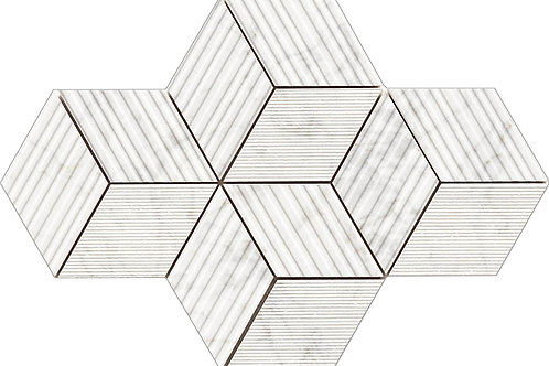Мозаика Cube Apuanian White Nat 30 × 30 см