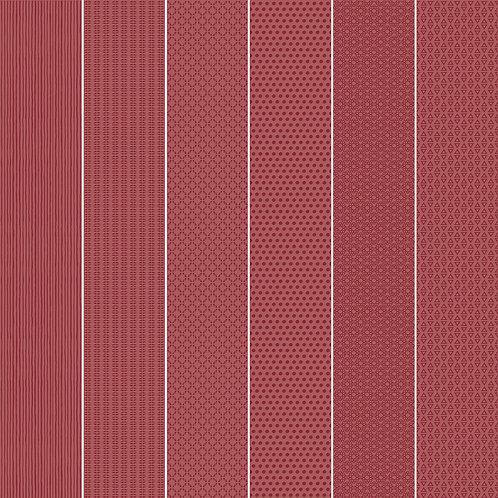 Керамогранит Vibration Red (6 patterns) 10 х 60 см