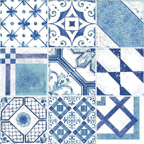 Керамогранит Maiolica Blue mix (9 patterns) 20 × 20 см
