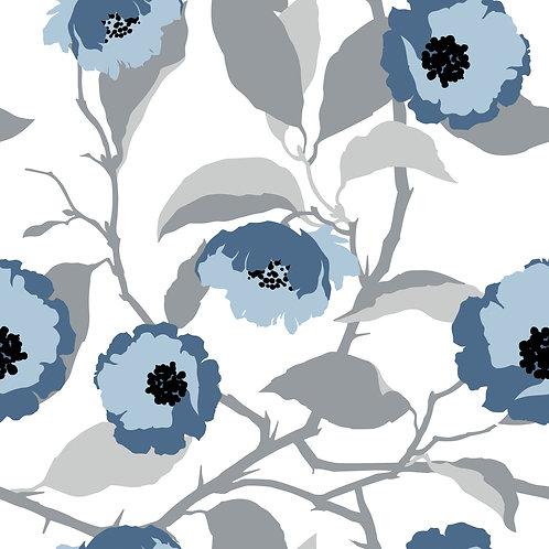 Керамическая плитка Colibri Blu Dec.D5 12,5 × 12,5 см